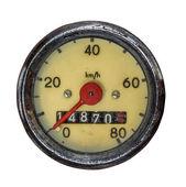 Isolated Vintage Speedometer — Stock Photo