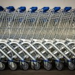 Row Of Shopping Trolleys — Stock Photo