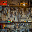 Foto de Stock  : Vintage Tools Workshop