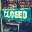 Foto de Stock  : Grungy Closed Sign