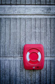 Grungy Red Life Preserver — Foto Stock