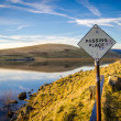 Passing Place Sign Beside Scottish Lake — Stock Photo #42713415