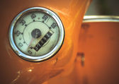 Vintage Orange Moped Odometer Detail — Stock Photo