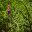 Girl On Zip Line — Stock Photo #44116619