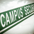 Retro Campus Security — Stock Photo #44118951