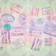 Retro Passport Stamps — Stock Photo #44135183