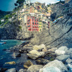 Постер, плакат: Town In Italian Riviera