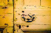Rustic Yellow Front Door — Stockfoto