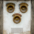 Vintage Brass Intercom — Stock Photo