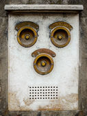 Vintage messing intercom — Stockfoto