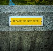 Do Not Feed — Stok fotoğraf