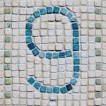 Rustic Number Nine Mosaic — Stock Photo #49917265