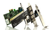 Assorted pci cards on white background — Stockfoto