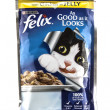 ������, ������: Felix Chicken in Jelly Cat food by PURINA on a white background