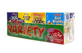 Kelloggs Variety Pack on a white background — Stock Photo