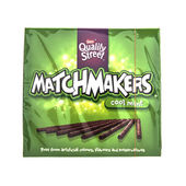 Matchmakers cool mint chocolates on a white backgroundMatchmaker — Stock Photo