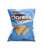 Packet of Doritos corn chips on a white  background. — Stock Photo