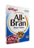 Packet of Kellogs All Bran Cerial on a white background — Foto de Stock