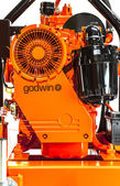 Godwin Vac Prime Pump on a white background — Stock Photo