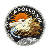 Apollo 13 Mission Badge from the Ill fated Moon landing 11-17 Ap — Stock Photo