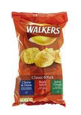 Walkers crisps  classic six pack — Stock Photo