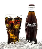 Cola Branded Glass — Stock Photo