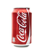 Can of  Coca-Cola on a white background — Stock Photo