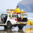 Lifeguards on duty at Poleath Beach — Stock Photo #50568341