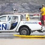 Lifeguards on duty at Poleath Beach — Stock Photo #51050043