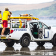 Lifeguards on duty at Poleath Beach — Stock Photo #51050153
