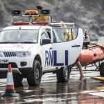 Lifeguards on duty at Poleath Beach — Stock Photo #51050201