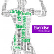 Exercise and fitness info-text graphics — Stock Photo