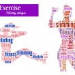 Stock Photo: Exercise and diet info-text graphics and arrangement concept