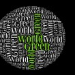 Green world info-text graphics and arrangement concept — Stok Fotoğraf #14724959