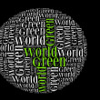 Green world info-text graphics and arrangement concept — Foto Stock #14724959