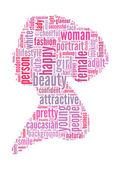 Women info-text graphics and arrangement concept — Stock Photo