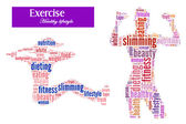 Exercise and diet info-text graphics and arrangement concept — Stock Photo