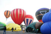 Hot air ballon flies at the 5th Putrajaya — Stock Photo