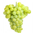 White grapes isolated on white - Stock Photo