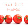 Two pairs of red tomatoes — Stock Photo