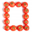 Red tomatoes frame — Stock Photo
