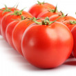 Rows of red tomatoes — Stock Photo