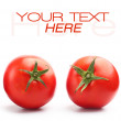 Two red tomatoes — Stock Photo
