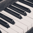 Old piano keys — Stockfoto #12895461