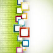 抽象的绿色背景 — 图库矢量图片