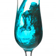 Blue cocktail flow in a glass - Stockfoto