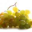 White grapes on white background - Stock Photo