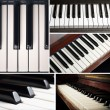 Piano keys collage - Foto de Stock