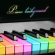Stock Photo: Rainbow piano background