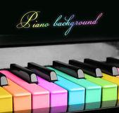 レインボー ピアノ背景 — ストック写真